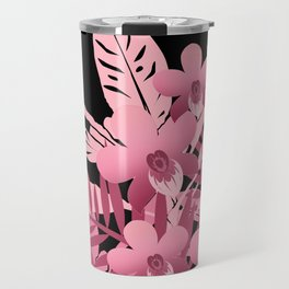 Bouquet of pink tropical plants 2 Travel Mug