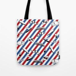 Barber Shop Pattern Tote Bag
