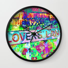 Psychedelic Lovers Lane  Wall Clock
