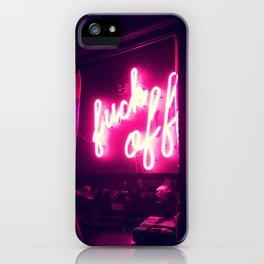 Fuck Off Neon Lights iPhone Case