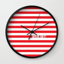 Self Aware Waldo Wall Clock