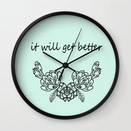 It well get better . Blue Wall Clock