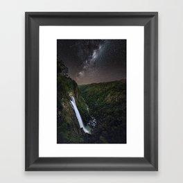 Ellenborough Falls By Night Framed Art Print