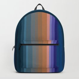 Multi-colored striped pattern 2 Backpack