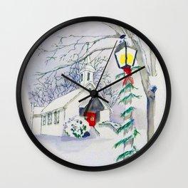 Christmas Church Wall Clock