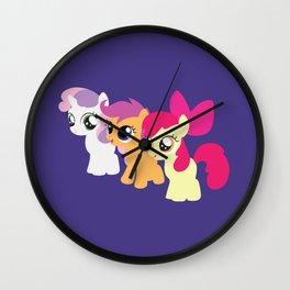 Sweetie Belle - Scootaloo - Apple Bloom - CMC Wall Clock