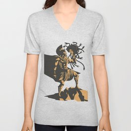 perseus holding the head of the medusa Unisex V-Neck