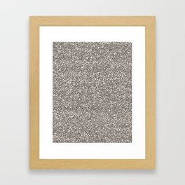 Silver Glitter I Framed Art Print