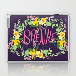 Floral Inspirational Quote Illustrated Print Laptop & iPad Skin
