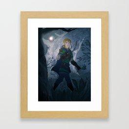 Link with Fairy Framed Art Print
