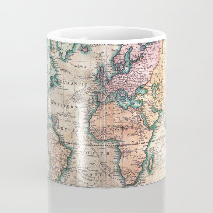 Vintage World Map 1801 Coffee Mug