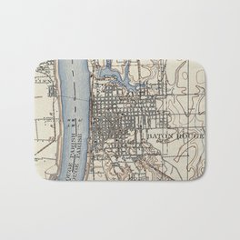 Vintage Map of Baton Rouge Louisiana (1906) Bath Mat