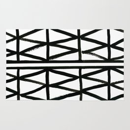 Brush and Ink II Mudcloth Pattern Rug
