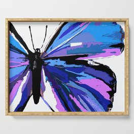 BUTTERFLY BLUE Serving Tray