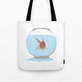 Stuck Goldfish Tote Bag