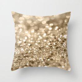 Champagne Gold Lady Glitter #2 #shiny #decor #art #society6 Throw Pillow