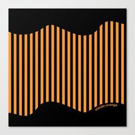 Etoide Jingga Orange Black Stripes Canvas Print