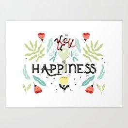 The Key of Happiness Art Print