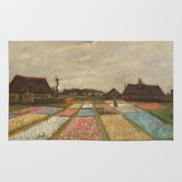 Classic Art - Flower Beds in Holland - Vincent van Gogh Rug