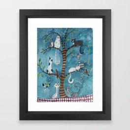 Cat family tree Framed Art Print