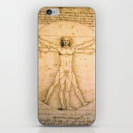 Vitruvian Man by Leonardo da Vinci iPhone Skin