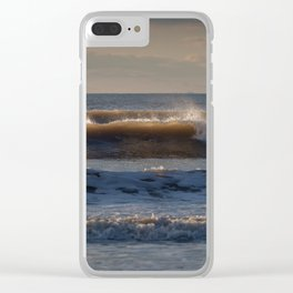 Surf at Rhossili Bay Clear iPhone Case