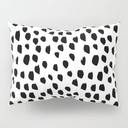 Hand drawn drops and dots on white - Mix & Match with Simplicty of life Pillow Sham