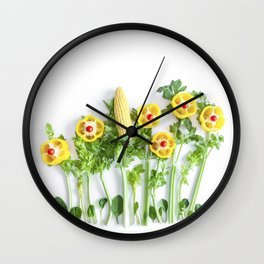 Peppers flower (35) Wall Clock