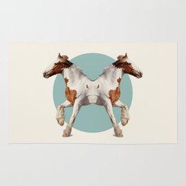 Double Animals: Horses Rug