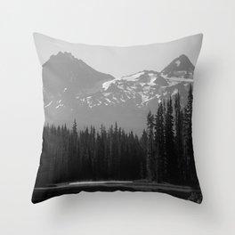 Lake Mist Throw Pillow