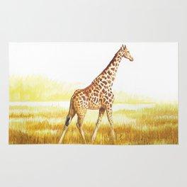 Giraffe painting Rug