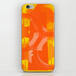 hoe is afraid of orange and yellow iPhone Skin