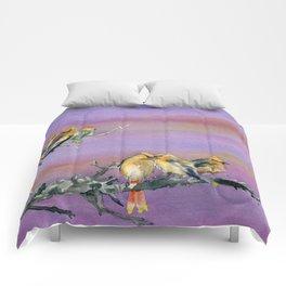 Bohemian Waxwings Birds Comforters