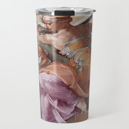 The Libyan Sybil Sistine Chapel Ceiling by Michelangelo Travel Mug