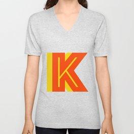 Letter K Unisex V-Neck