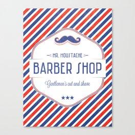 Mr. Moustache Barber Shop Canvas Print