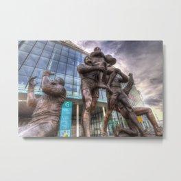 Rugby League Legends statue Wembley stadium Metal Print