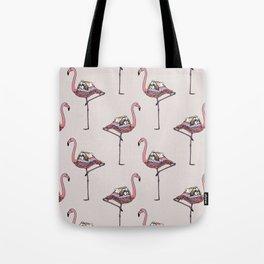 Flamingo and Shih Tzu Tote Bag