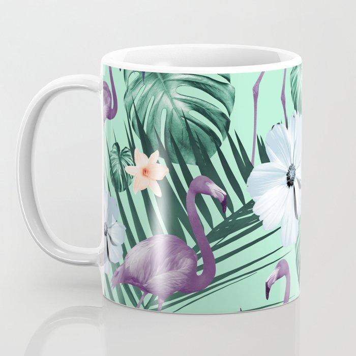 Tropical Flamingo Flower Jungle #5 #tropical #decor #art #society6 Coffee Mug