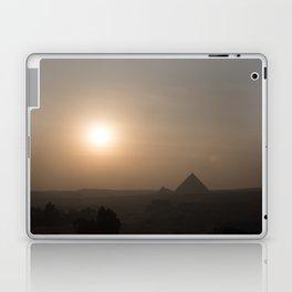Sunset at Giza Pyramids Giza Egypt Cairo Laptop & iPad Skin