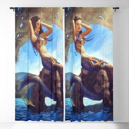 Mexican Mermaid Blackout Curtain