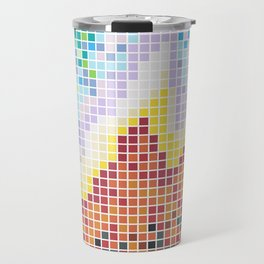 Pixelated Nebula Red Travel Mug