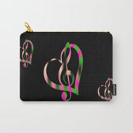Music Heart Carry-All Pouch