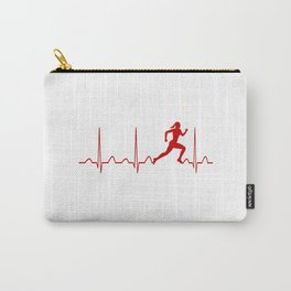 RUNNER'S WOMAN HEARTBEAT Carry-All Pouch