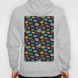Retro Vintage Comic Book Speech Bubbles Design Hoody