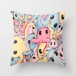 Octopus Garden Throw Pillow