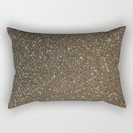Bronze Gold Burnished Glitter Rectangular Pillow
