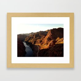 black canyon Framed Art Print
