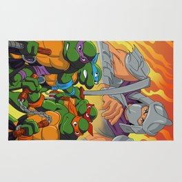 TMNT HEROES IN THE HALF SHELL Rug