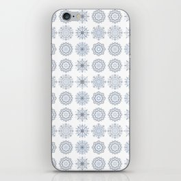 First Snowfall, winter snowflakes iPhone Skin